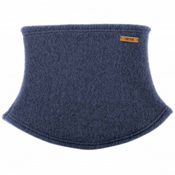 Loopschal Wolle Fleece in jeans-blau