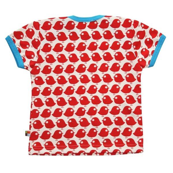 Rote Vögel T-Shirt von Loud + Proud unisex