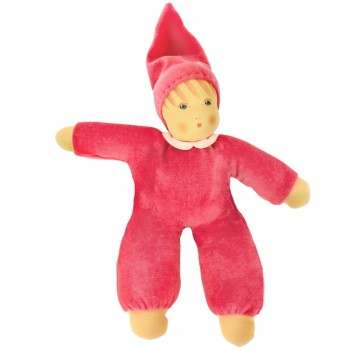 Bio Stoffpuppen Nani ohne Haare 33 cm rosa