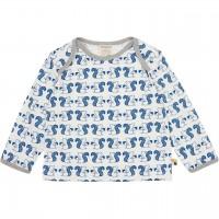 Leichtes Shirt langarm Eichhörnchen blau