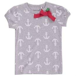 Bio Mädchen T-Shirt mit Ankern und Schleife