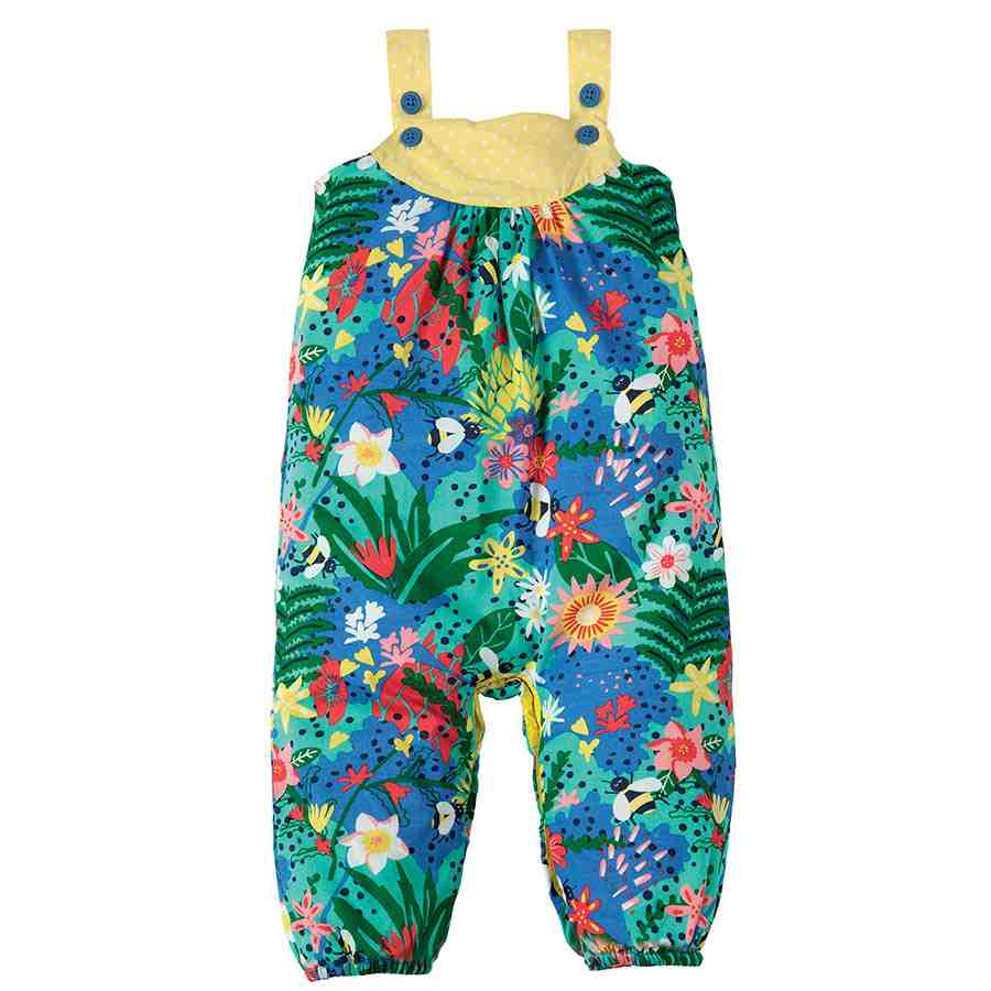 d439e23704ef Frugi Sommer Strampler Blumen in blau