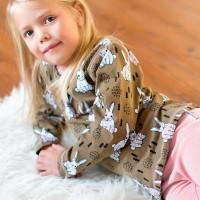 Mädchen Langarmshirt robust elastisch beige