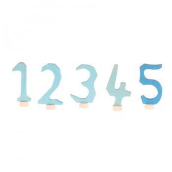 Grimms Zahlenstecker Set 1-5 blau