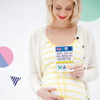 Fotokarten zur Erinnern an die schwangerschaft