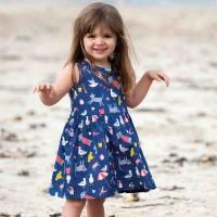 Sommerkleid ohne Arm Tiere marine