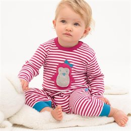 Softer warmer Babystrampler Pinguin
