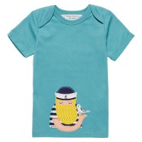 T-Shirt mit Aufnäher Fischer