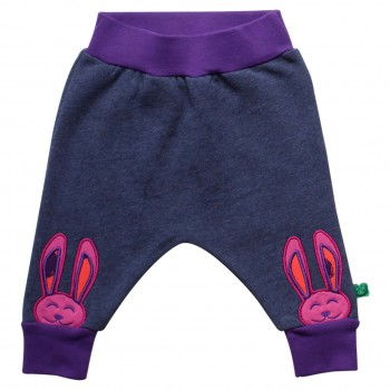 Sweat Krabbelhose Hase in Jeans-Optik