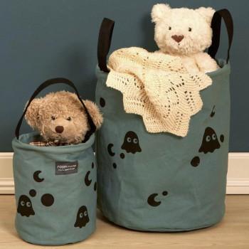 Aufbewahrungskorb Kinderzimmer - 2er Set - graugrün