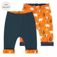 Doppellagige  Wendehose  Pinguin  Eule  navy  orange