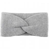 Damen Wolle Kaschmir Stirnband grau melange