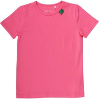 Bio Kurzarmshirt - tolles dehnbares Basic Shirt - coral