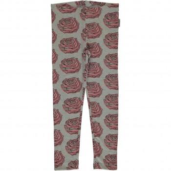 Leggings rosa Rosen in grau
