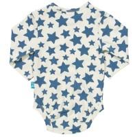 Vorschau: Sternen Babybody langarm dicke Druckknöpfe