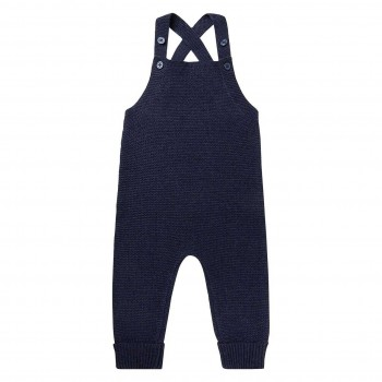 Bequemer Strickstrampler in navy