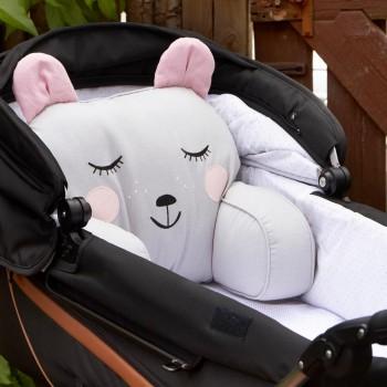 Sitzkissen für Kinderwagen und Bett - Bär