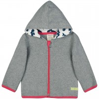 Warme Kapuzenjacke Fleece grau