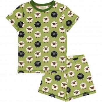 Sommer Schlafanzug Schaf grün