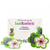 SaatKonfetti 12 Stück – Bio Saatgut Blühende Grüße