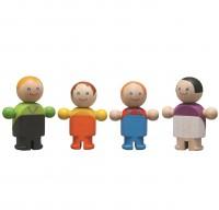 Farbenfrohe Puppenfamilie für das Puppenhaus