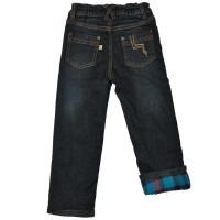 Vorschau: Warme Jungen Jeans Hose innen mit Flanell und umschlagbar