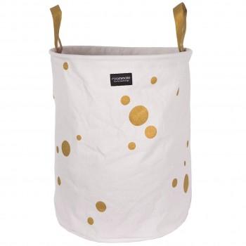 Wäschekorb – 50 cm – goldene Punkte