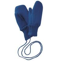 Fäustel Handschuhe Schurwolle mit Gelenkbündchen marine