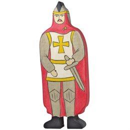 Ritter aus Holz rot