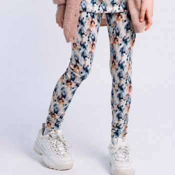 Leggings Batik-Optik Stretch blau