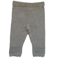 Strickleggings mit Muster grau