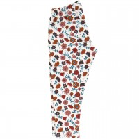 Dehnbare Leggings in Blumen-Design