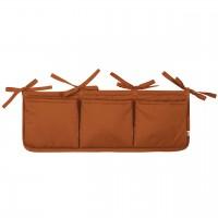 Bett-Aufbewahrungs-Box in ocker braun
