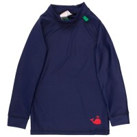 Kinder Badeshirt langarm in navy