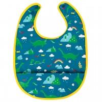 Lätzchen mit Auffangtasche Nessie blau