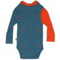 Vorschau: Baby Body Schurwolle kbT - Designerstück - extravagant