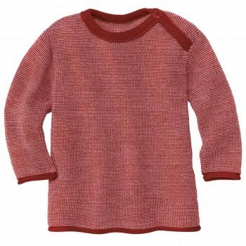 Pullover Baby Schurwolle in bordeaux