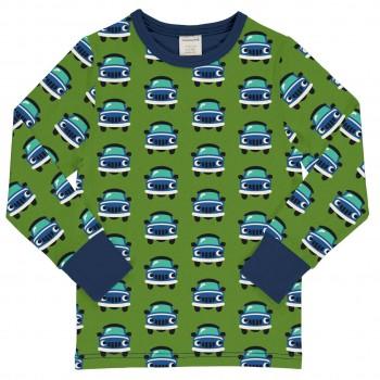 Auto Langarmshirt Bündchen in grün