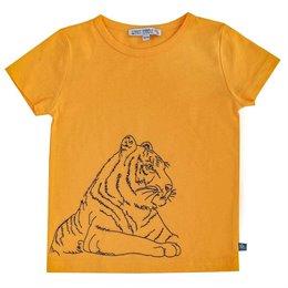 Tiger gestickt Shirt kurzarm grün
