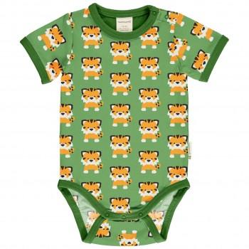 Grüner Body kurzarm Tiger
