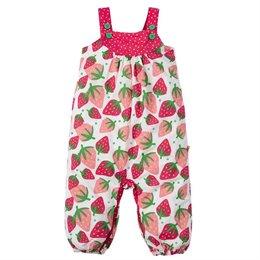 Leichter Popeline Sommer Strampler Erdbeere