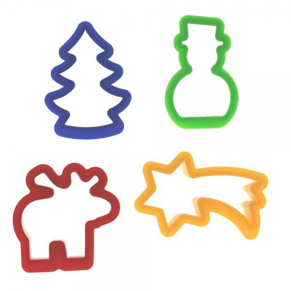 4 Plätzchenausstecher schadstofffreier Kunststoff spielstabi