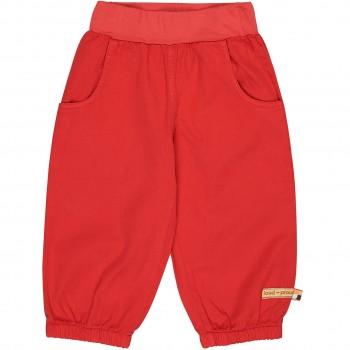 Leichte Twill Sommerhose in rot