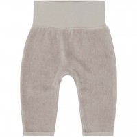 Warme  Babyhose  Velour  in  taupe