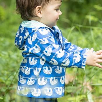 Outdoorjacke mit Abperleffekt Faultiere blau