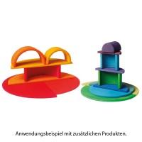 Vorschau: Halbkreise Platten Regenbogen Set