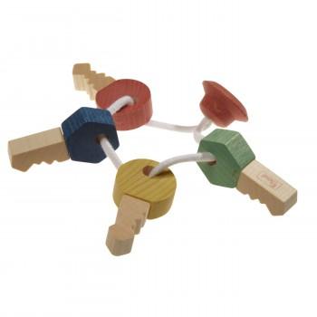 Greifspielzeug - reine Natur - Schlüsselbund