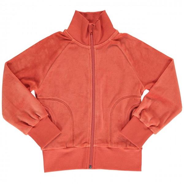 Warme Nickijacke mit Zipper orange