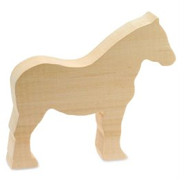 Schnitzrohling Holztier - Pferd