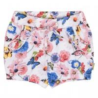 Elastische Mädchen Shorts Blumen-Druck